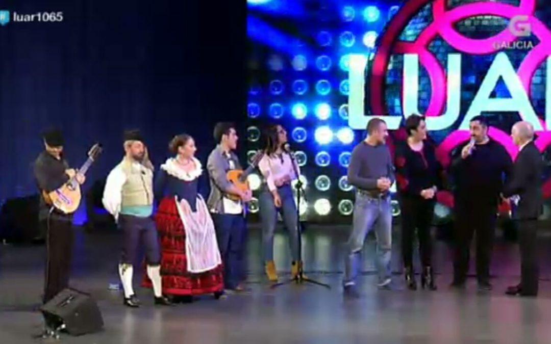Azarbe y el ballet Matices en el programa Luar de la televisión gallega TVG